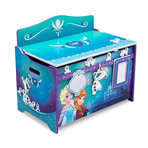 Delta Children Disney Frozen Deluxe Toy Box with Dry Erase Board, Photo Frame, Elsa, Anna, Snowgies and Olaf