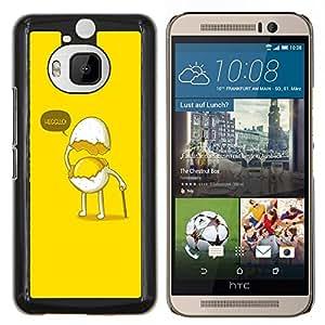 EJOOY---Cubierta de la caja de protección para la piel dura ** HTC One M9Plus M9+ M9 Plus ** --Gentleman divertido huevo