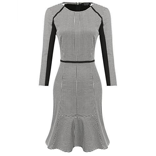 8bcf09b5f1c ACEVOG Women s Retro Bodycon Wear to Work Slim Business Pencil Cocktail  Dress 50%OFF