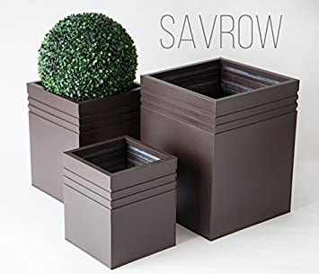 Savrow Uk Ltd Metal Zinc Square Planter. Indoor or Outdoor ... on zinc planter boackround on white, zinc garden statues, zinc bowls, zinc furniture, zinc window boxes,