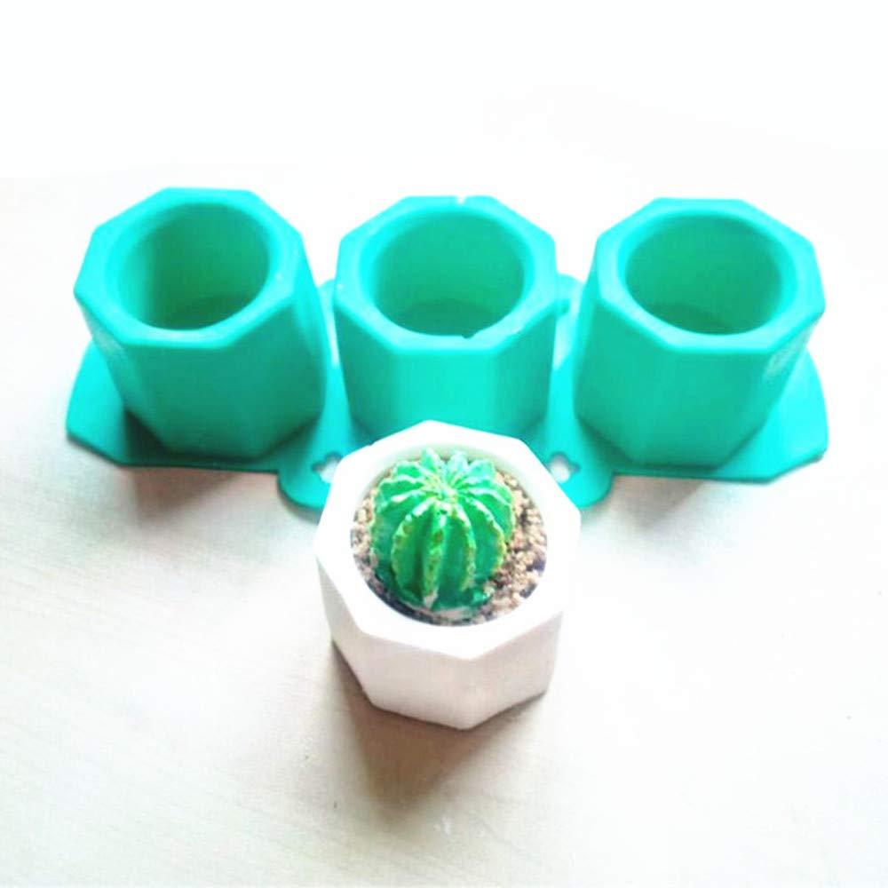 3meccanismo a mano geometrico vaso di fiori in silicone Mold ceramica Molding Craft chongyixian quanping