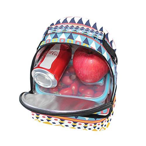 aislamiento con para de correa con con FOLPPLY almuerzo pincnic de estilo floral hombro para retro Bolsa ajustable escuela el estampado la 71xwxt5zq