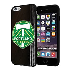 """Zheng caseZheng caseSoccer MLS PORTLAND TIMBERS SOCCER CLUB FOOTBALL FC Logo, Cool iPhone 4/4s (6+ , 5.5"""") Smartphone Case Cover Collector iphone TPU Rubber Case Black"""