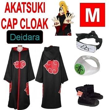 Naruto cosplay traje Set para Deidara -Capa con capucha ...