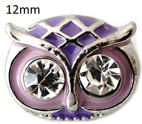 Rockin Angels Purple Owl Rhinestone 12mm Mini Petite Charm For Ginger Snaps Magnolia Vine