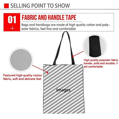 SANNOVO Dachshund Dog Canvas Tote Bag Grocery Shopping Bag Shoulder Bag for Girls Students by SANNOVO (Image #3)
