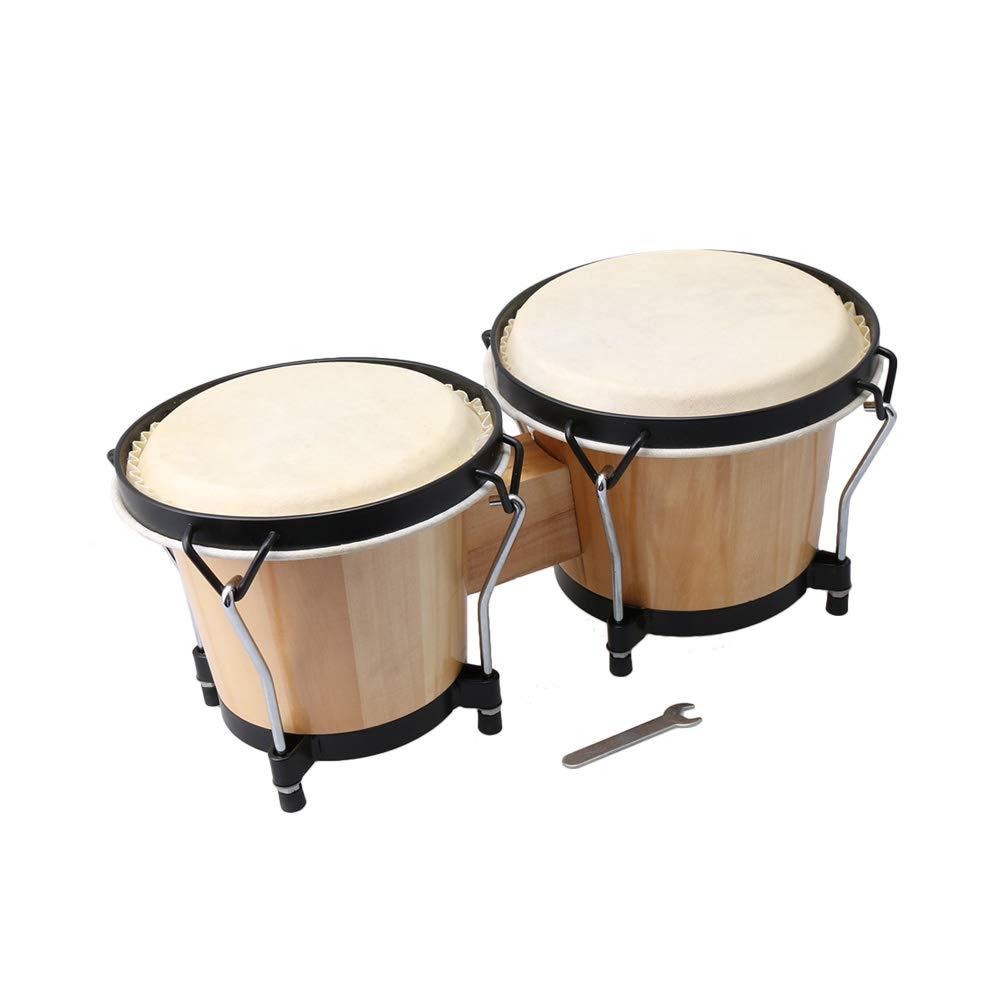 Mxfans Inner diameter 15cm Wood Construction Drum Bongo Drummer African Drum