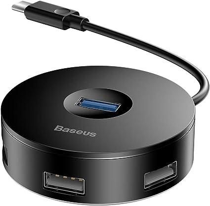 Baseus Hub USB C 3.0 de 4 Puertos, Adaptador de concentradores USB ...