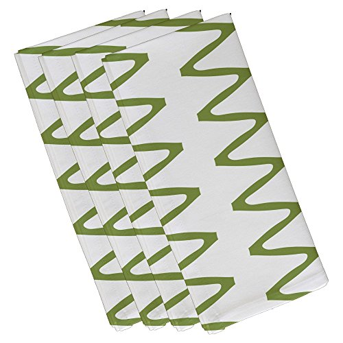 zipped geometric print napkin