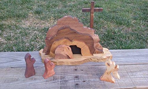 Easter Empty Tomb Scene. Easter Resurrection.
