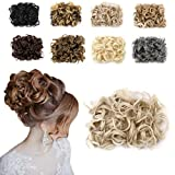 hair dryer looks like gun - Haironline Short Messy Curly Dish Hair Bun Extension Easy Stretch hair Combs Clip in Ponytail Extension Scrunchie Chignon Tray Ponytail Hairpiece