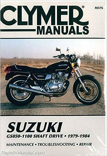 M376 GS850 GS1000 GS1100 Shaft Drive Suzuki 1979-1984 ... on