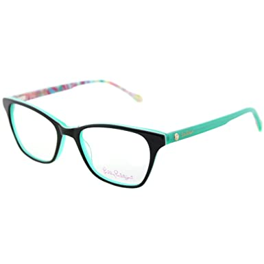 7bbe75318c Image Unavailable. Image not available for. Color  Lilly Pulitzer Sydney GN  Green Plastic Rectangle Eyeglasses 49mm