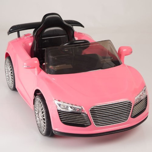 amazoncom kids ride on car electric power remote control wheels mp3 pink upgraded with a 6v 10ah battery big motor toys games