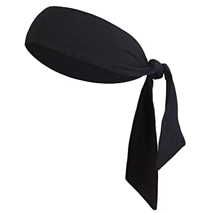 94b6edd3b44e4 Amazon.com : AMAKU Dry-Fit Sports Headbands for Men Women Tie Back ...