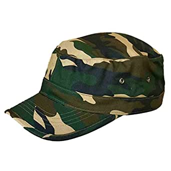 e6b611f84a918 Trendy Military Fitted Cap - Forest Camo at Amazon Men s Clothing store