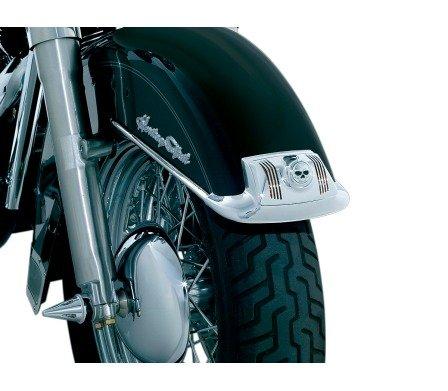 BK Rider Zombie Lens Grilles for Fender Tip Lights Chrome (pr) for Harley-Davidson 1980-2008 FLT/FLHT/FLHR 1986-2012 FLST Models with Fender Tip Lights