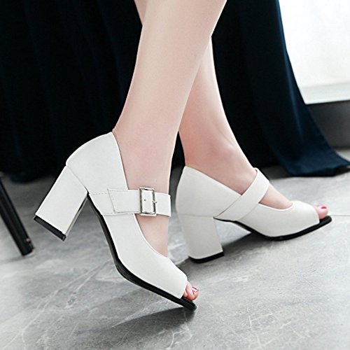 Toe Mode JOJONUNU Femmes Escarpins White Peep vYHYtn5q
