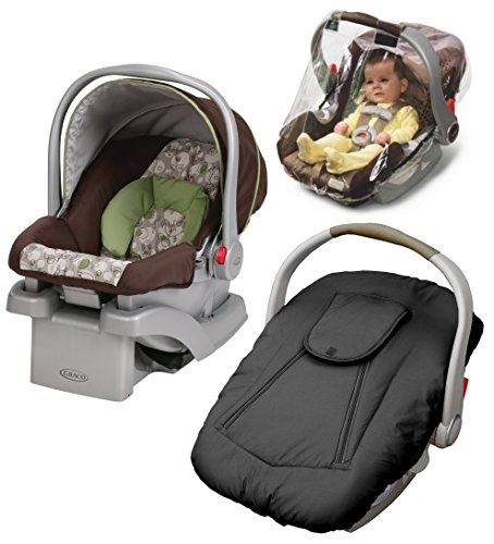 Graco SnugRider Click Connect 30 Infant Car Seat with Deluxe Weather Cover & Weather Shield, - Step Graco Safeseat
