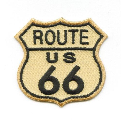 Route 66 USA Mainstreet Mother Road Nostalgie Retro Patch Aufnäher Aufbügler K-5