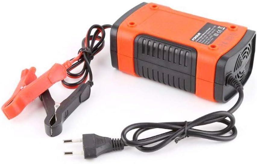 EisEyen - Cargador de batería para Coche, 12 V, con protección múltiple para batería de Coche, Moto, cortacésped o Barco