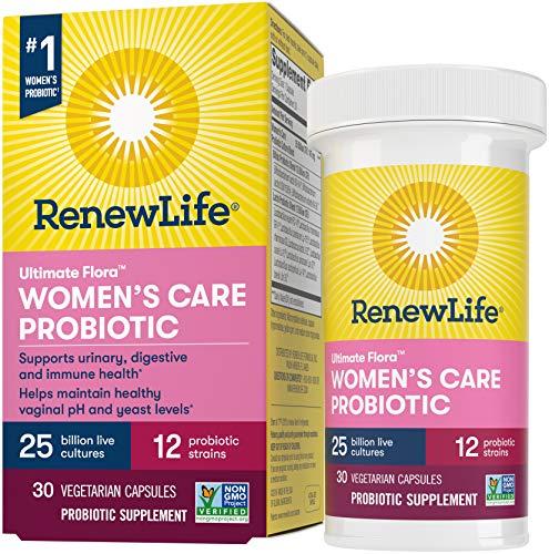 Renew Life Women's Probiotics 25 Billion CFU Guaranteed, 12 Strains, Shelf Stable, Gluten Dairy & Soy Free, 30 Capsules…