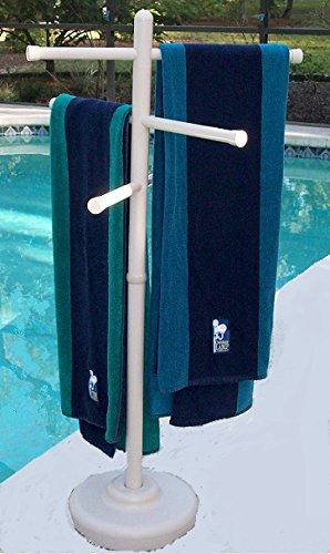 (Outdoor Spa and Pool Towel Rack - Bone)
