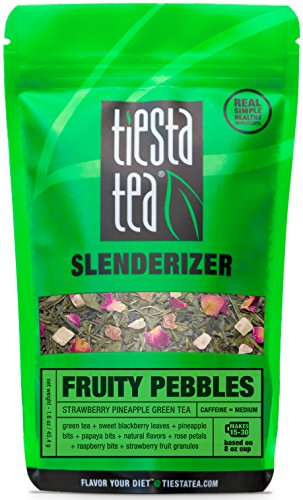 Tiesta Tea, Fruity Pebbles, Strawberry Pineapple Green Tea, 30 Servings, 1.6 oz