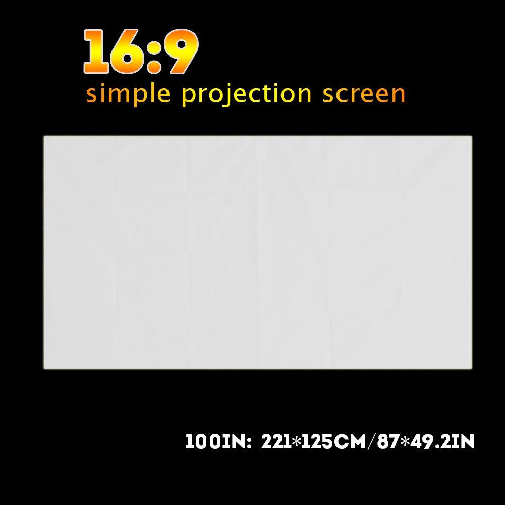 120inch Richer-R 16:9 Pantalla Plegable para Proyector,Pantalla de Proyecci/ón Port/átil Universal para Uso al Aire Libre como Camping//Cine,etc.(Blanco)