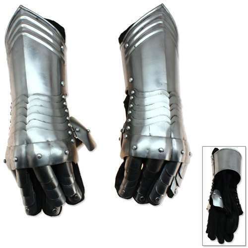 Medieval Knightly Gauntlets Carbon Steel Scale Armor 6-Point Wrist (Medieval Gauntlets)