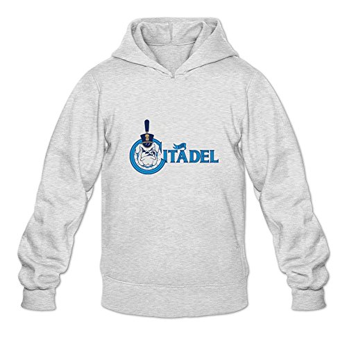 Reder Men's The Citadel Bulldogs Sweatshirt Hoodie XL Light - Mens Charleston Sc Clothes