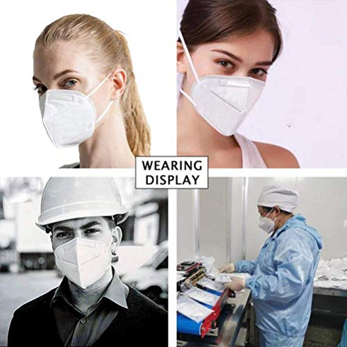 50Pcs N95 Particulate Respirator Medical Mask,Antiviral Face Mask Air Filter Masks Against Dust, Surgical, Safety Face Sanitary Mask