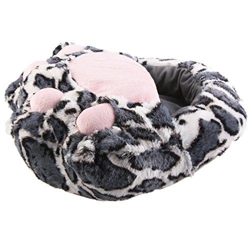 SAMs Tier Hausschuhe XXL Fußwärmer Tatze Qualität wärme Puschen Plüsch Einheitsgröße NEUHEIT, TH-FP