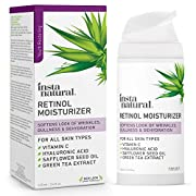 #LightningDeal InstaNatural Retinol Moisturizer Anti Aging Night Face Cream - Face & Neck Wrinkle Lotion - Reduce Appearance of Wrinkles, Dark Circles, Fine Lines & Acne - Vitamin C Hyaluronic Acid Complex - 3.4 oz