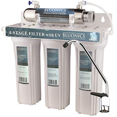 4 - Stage Drinking Water Filter UV Ultraviolet Light Purifier for Bacteria Under Sink Filtration System ()