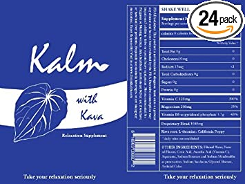 Kalm with Kava - Relaxation Drink -Take Your Relaxation Seriously (24 -  pack)