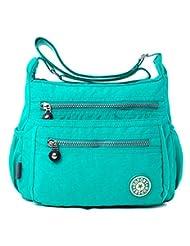 YouNuo Womens Casual Water-resistant Nylon Zipper Adjustable Strap Shoulder Bag Messenger Crossbody Purse