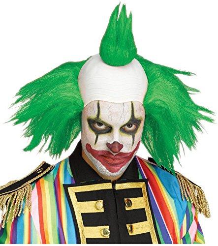 Fun World Men's Twisted Clown Wig Accessory, Green, Standard
