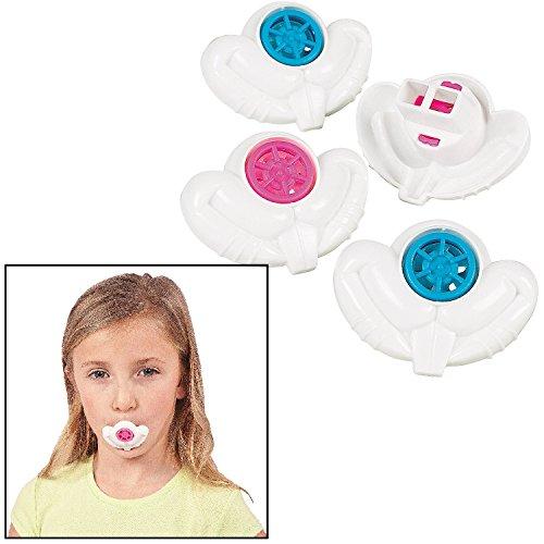 Plastic Bunny Teeth Whistles (36 Pieces) 2 1/4