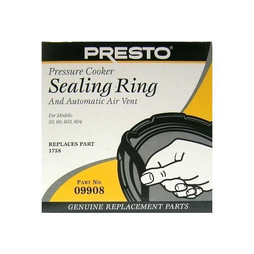 Presto 09908 Pressure Cooker / Canner Gasket; Sealing Ring & Auto Air Vent Pack