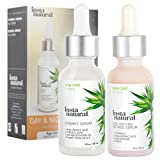 serum for skin texture Day & Night Duo Bundle - Vitamin C Serum & Retinol Serum - Natural & Organic Anti Aging Formula for Face - Improve Skin Texture & Glow - Reduce Fine Lines Dark Spots Hyperpigmentation - InstaNatural