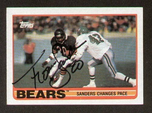 - Thomas Sanders signed autograph auto 1989 Topps Football Trading IN ACTION Card