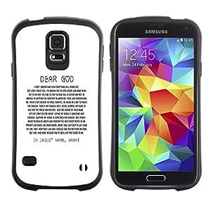 Paccase / Suave TPU GEL Caso Carcasa de Protección Funda para - BIBLE Dear God - Samsung Galaxy S5 SM-G900