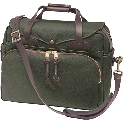 Filson Twill Padded Laptop Briefcase Otter Green, One Size by Filson