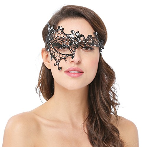 Phantom Costume Of Masquerade The Opera (Womens Sexy Signature Phantom Of The Opera Masquerade Mask,RightEye, One)