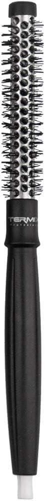 Termix, Cepillo de Pelo Térmico Redondo, con Tubo de Aluminio para Retener El Calor y Reducir El Tiempo de Secado, Negro