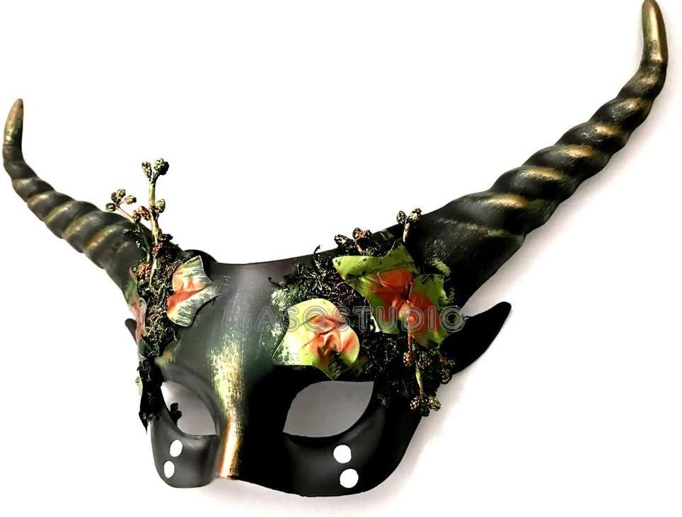 MASQSTUDIO - Máscara de Pelota de máscara con Cuernos: Amazon.es ...