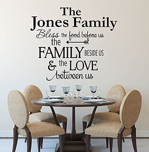 Amazon Com Kitchen Decals Bless The Food Before Us Wall Decal Kitchen Vinyl Decal Bless Our Family Decal Kitchen Quotes Vinyl Quote Decals Home Kitchen