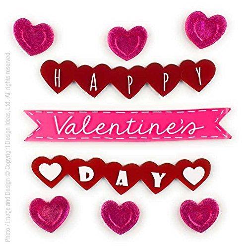 Design Ideas GelGems Valentine's Day Themed Gel Window Clings (Valentine Banner, Small Bag)