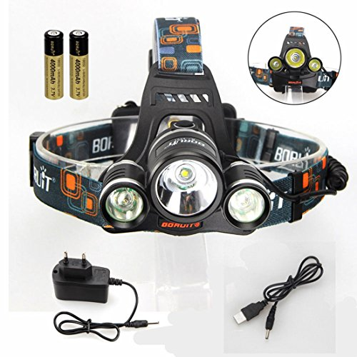 Complacence Headlight Wall and USB Charger Rechargeable Torch Head Lamp Flashlight Color Black (Glock 22 Conversion Kit)
